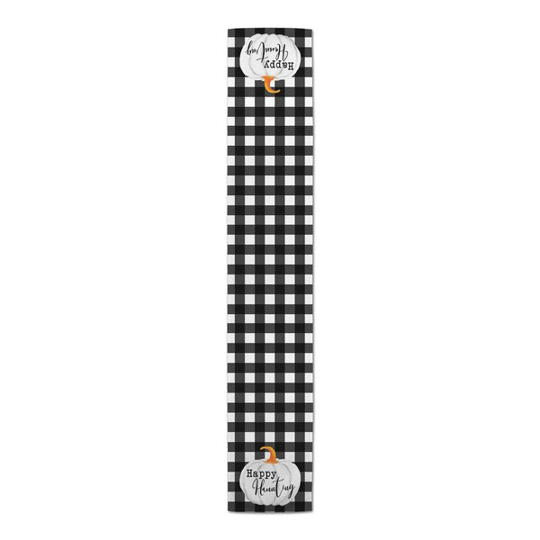Cornett Happy Haunting Buffalo Check Table Runner by The Holiday Aisle
