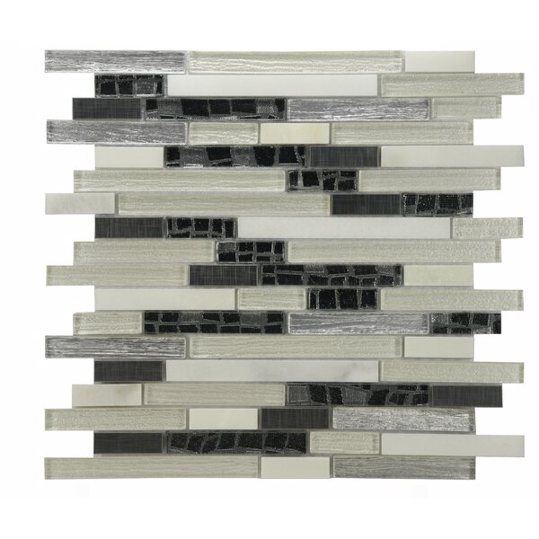 Modern Sleek Mixed Tile in Cream/Gray by Byzantin Mosaic