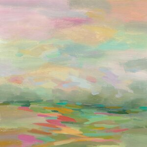 Pastel Fields Painting Print on Wrapped Canvas by East Urban Home