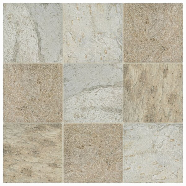 Trevino 11.5 x 11.5 Porcelain Field Tile in Beige by EliteTile