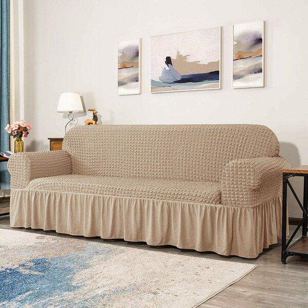 Seersucker Box Cushion Loveseat Slipcover By Winston Porter
