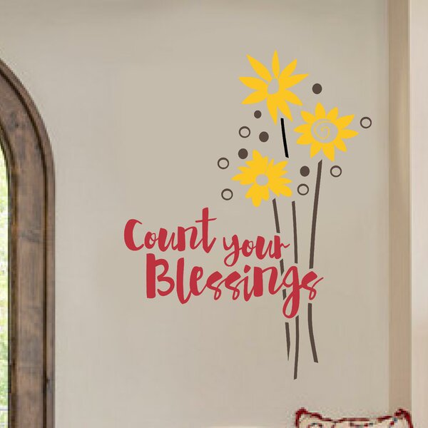 Count Your BLessings Flowers Wall Decal by Enchantingly Elegant