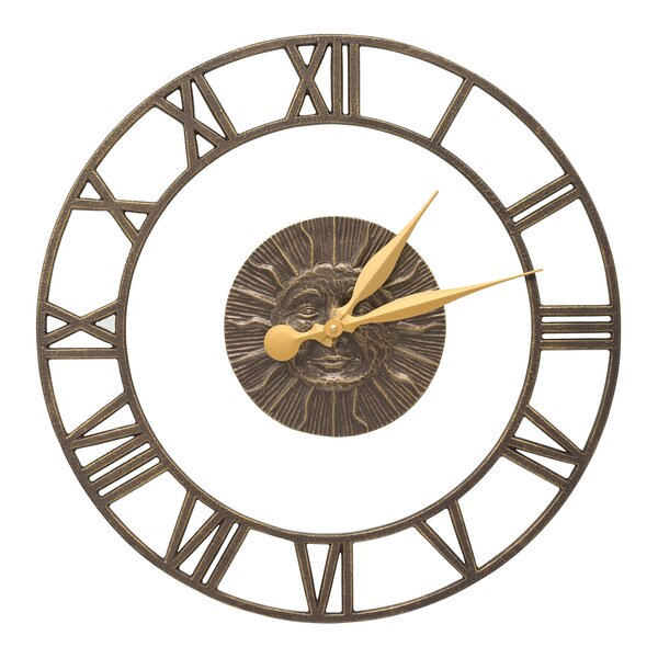 21 Sunface Floating Ring Indoor/Outdoor Wall Clock by Whitehall Products