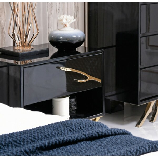 Spinella 1 Drawer Nightstand by Orren Ellis