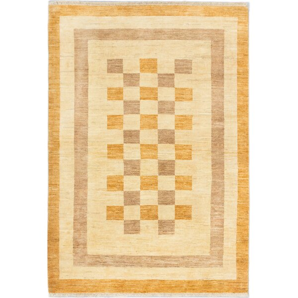 One-of-a-Kind Kadyn Hand-Knotted Brown/Orange Area Rug by World Menagerie