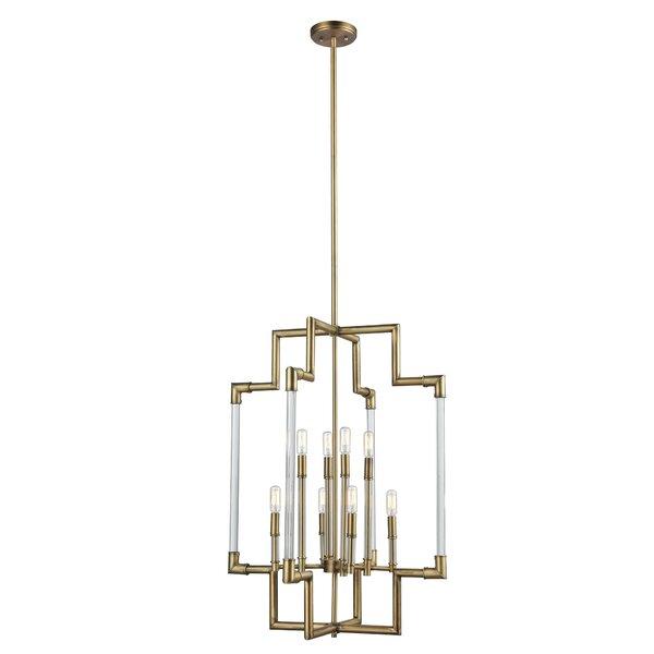 Velez 8 - Light Candle Style Geometric Chandelier by Mercer41 Mercer41