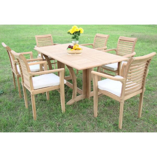 Krausgrill Luxurious 7 Piece Teak Dining Set by Rosecliff Heights