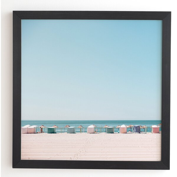 Beach Huts Framed Photographic Print by East Urban Home