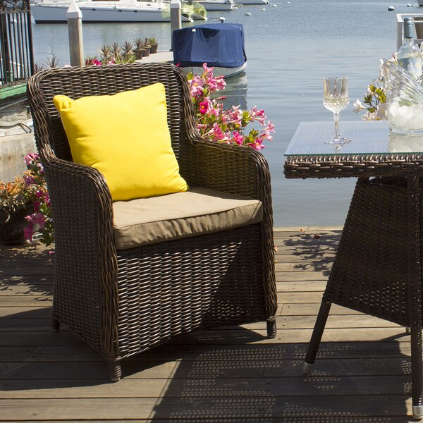 Heldt Patio Dining Chair with Cushion (Set of 2) by Latitude Run