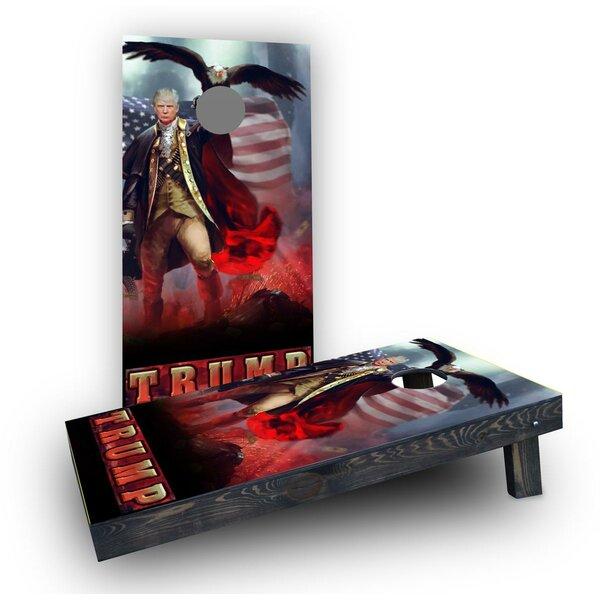 Patriotic Trump Revere Eagle Background Cornhole Boards (Set of 2) by Custom Cornhole Boards
