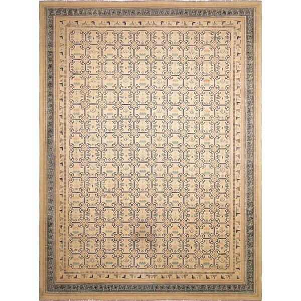 One-of-a-Kind Romona Hand-Knotted Ivory Indoor Area Rug by Isabelline