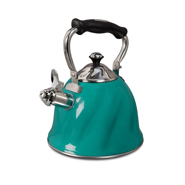 Mr. Coffee 2.3 Qt. Alberton Stainless Steel Whistling Stovetop Kettle by Gibson