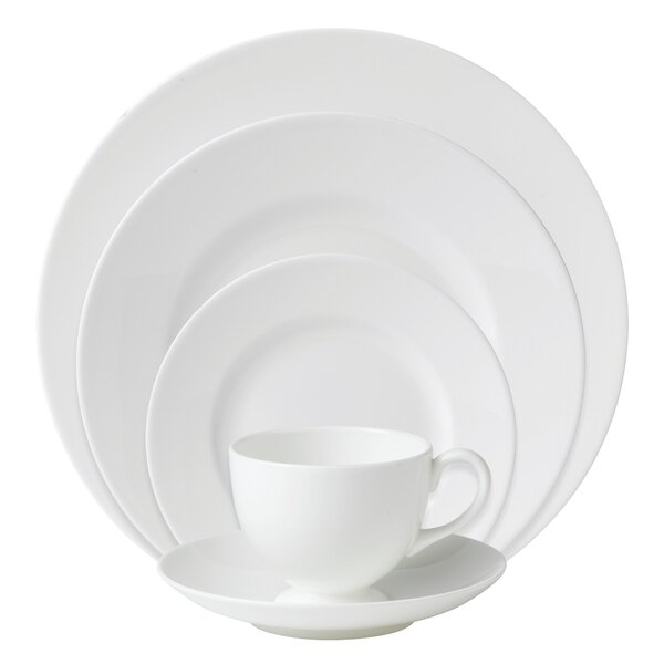 White Bone China 5 Piece Place Setting, Service for 1 by Wedgwood