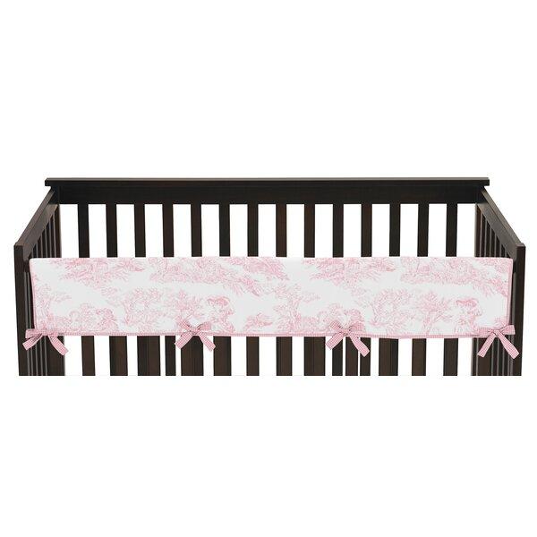 French Toile Long Crib Rail Guard Cover by Sweet Jojo Designs