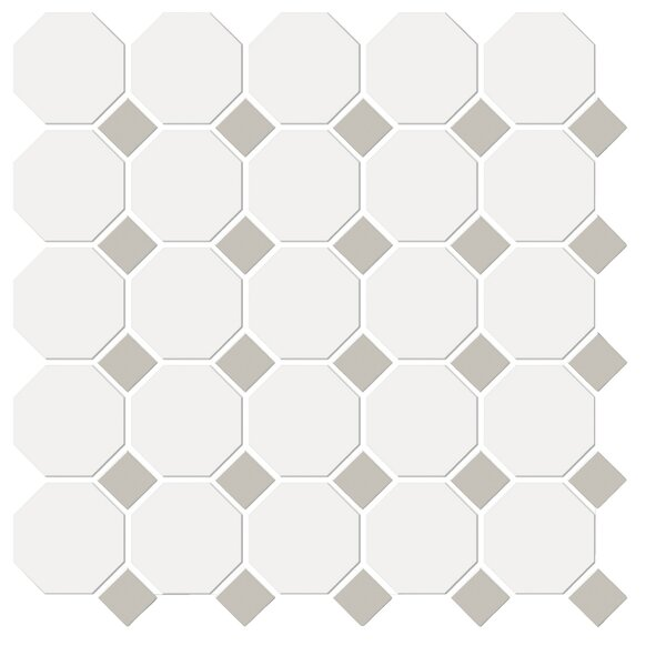 Shape Random Sized Porcelain Mosaic Tile in White/Gray by Emser Tile