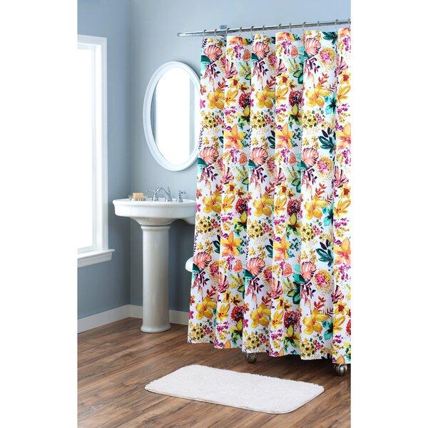 Garden Party Cotton Shower Curtain by Nicole Miller