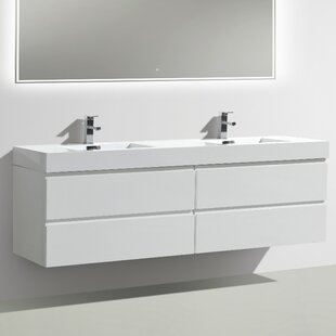 Leni 71 Wall-Mounted Double Bathroom Vanity Set By Orren Ellis