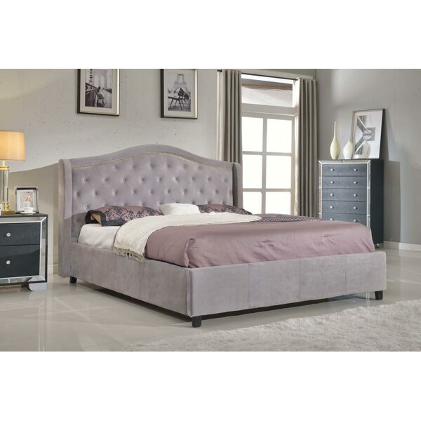 Nicole Footboard and Rails Upholstered Bed by Rosdorf Park