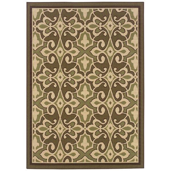 Ceasar Oriental Flatweave Green/Ivory Indoor / Outdoor Area Rug