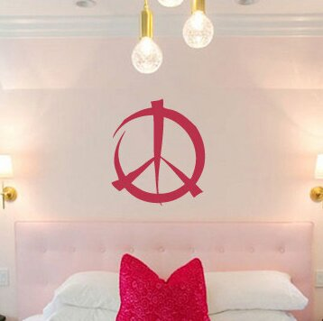 Hodgkins Graffiti Peace Sign Symbol Vinyl Wall Decal by Zoomie Kids
