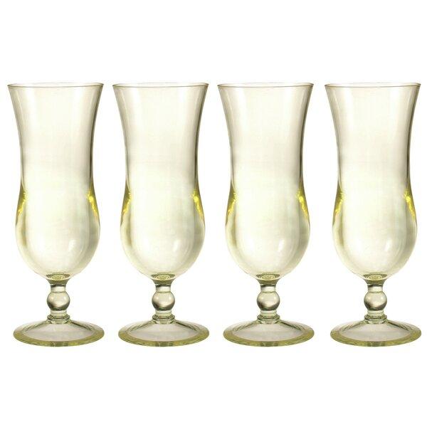 Hurricane Glass 16 oz. Drinkware Set (Set of 4) by Chenco Inc.