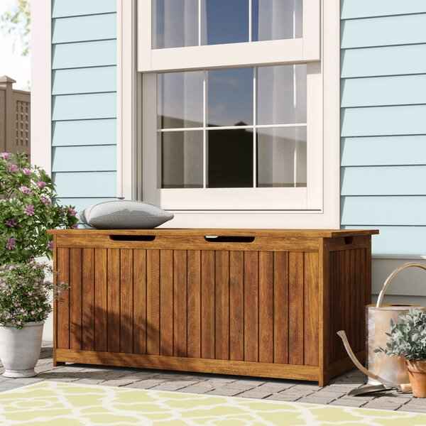 Lancaster Eucalyptus Deck Box by Plow & Hearth Plow & Hearth