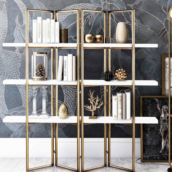 Ellenton Concrete Etagere Bookcase by Everly Quinn