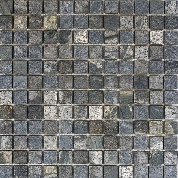 1 x 1 Slate Mosaic Tile in Ostrich Grey by Epoch Architectural Surfaces