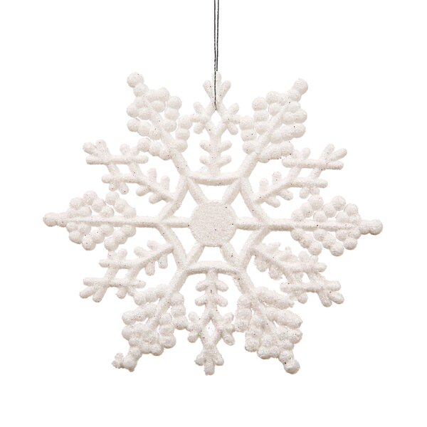Glitter Snowflake Christmas Shaped Ornament (Set of 24) by The Holiday Aisle