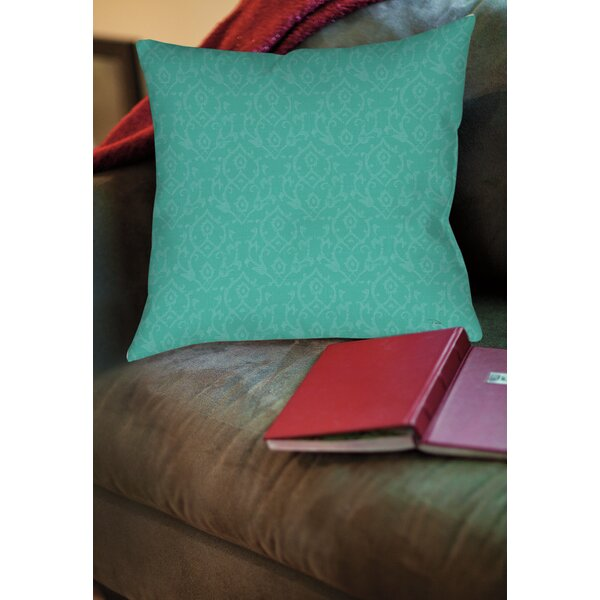Flowing Damask Printed Throw Pillow by Manual Woodworkers & Weavers