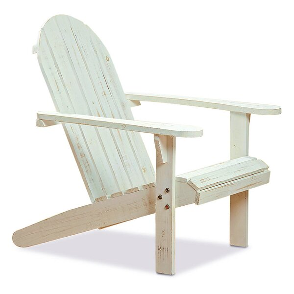 Wittke Wood Folding Adirondack Chair by Highland Dunes