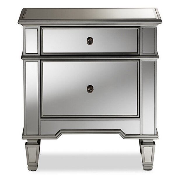 Mainor Glamour 2 Drawer Nightstand by Rosdorf Park