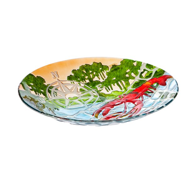 Crawfish Birdbath by Evergreen Flag & Garden