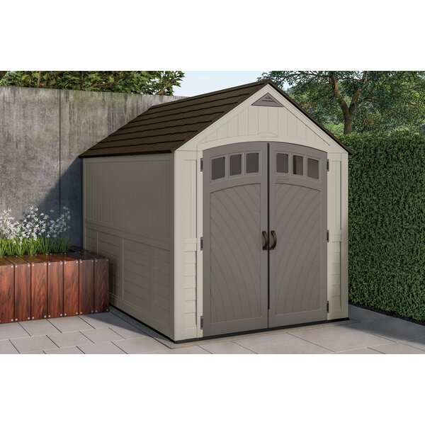 Blow Molded 7 ft. 5 in. W x 10 ft. 5 in. D Plastic Storage Shed by Suncast