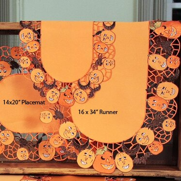 Happy Jack-O-Lanterns Table Runner by Xia Home Fashions