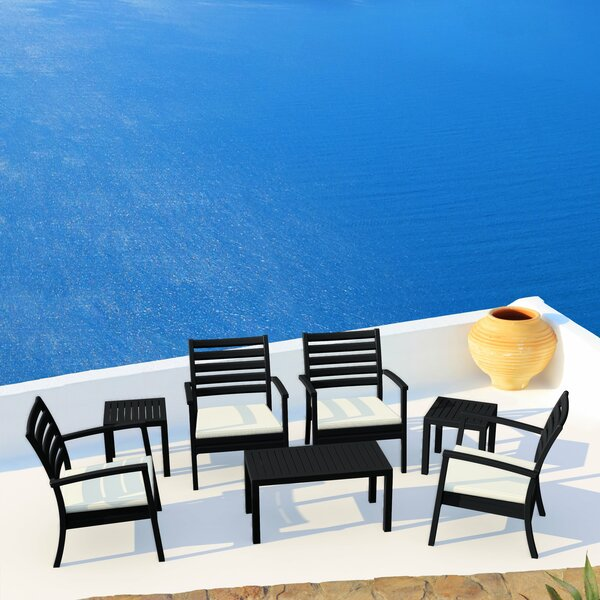 Melissus 7 Piece Sunbrella 4 Person Seating Group with Cushion by Mercury Row