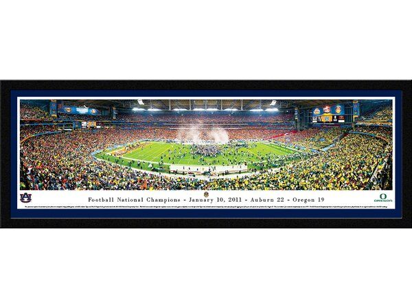 NCAA BCS 2011 - Auburn - Framed Photographic Print by Blakeway Worldwide Panoramas, Inc