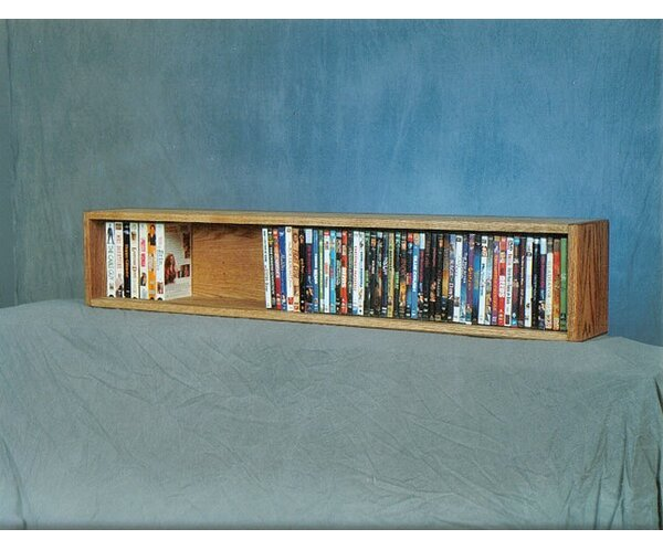 100 Series 88 DVD Multimedia Tabletop Storage Rack by Wood Shed