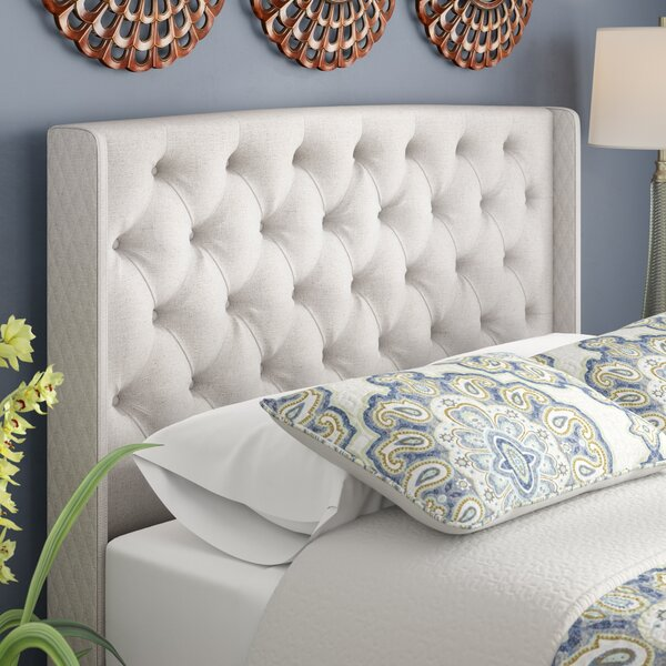 Riley Upholstered Wingback Headboard by Alcott Hil