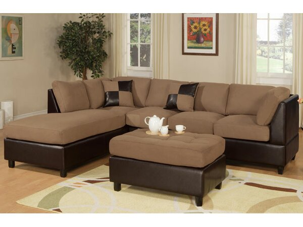 Hiett Sectional with Ottoman by Latitude Run