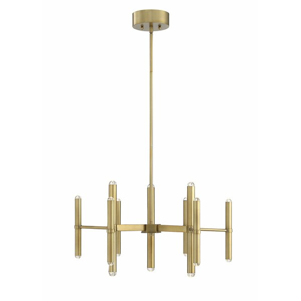 Culley 18-Light Candle Style Sphere LED Chandelier By Mercer41