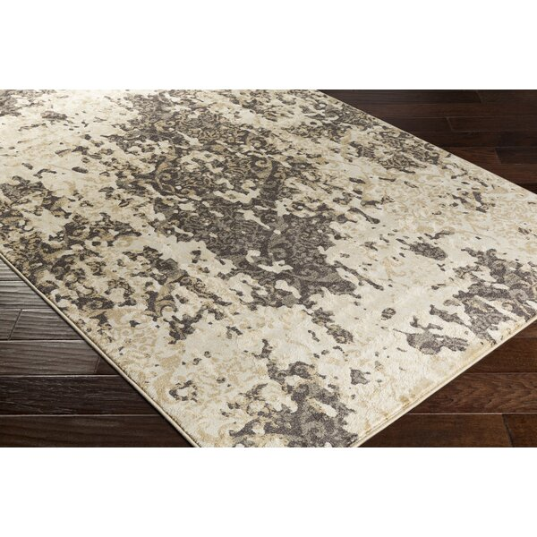 Divernon Beige Abstract Area Rug by Ebern Designs