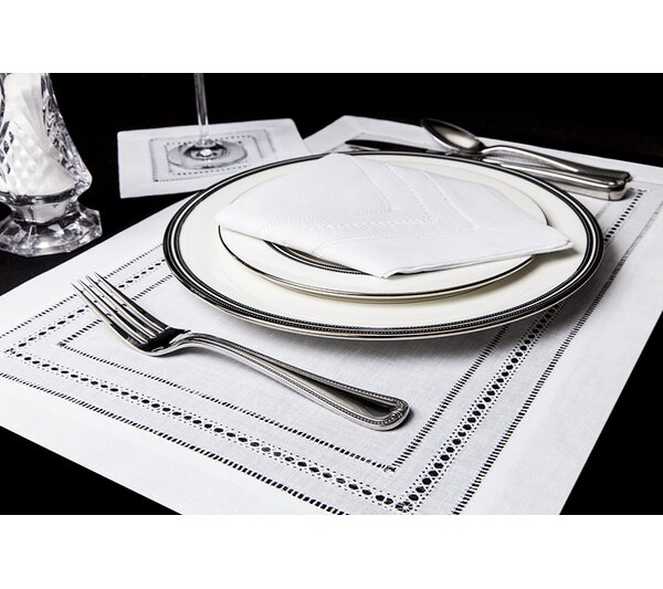Triple Hemstitch Placemats (Set of 4) by Boutross Fine Linens