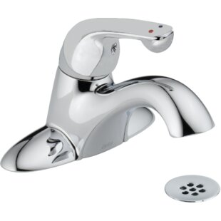 Read Reviews Centerset Lavatory Faucet with Grid Strainer ByDelta