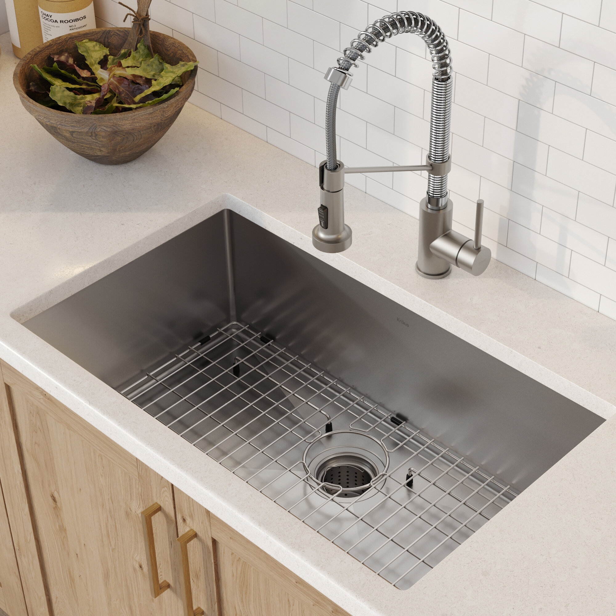 Kraus Standart Pro 30 L X 18 W Undermount Kitchen Sink With