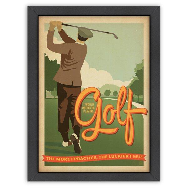 Practice Golf Framed Vintage Advertisement by East Urban Home