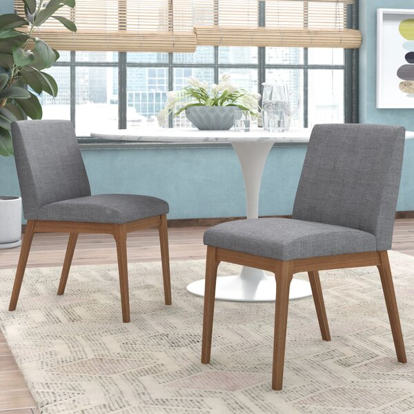 Alden Upholstered Solid Wood Side Chair (Set Of 2) By George Oliver