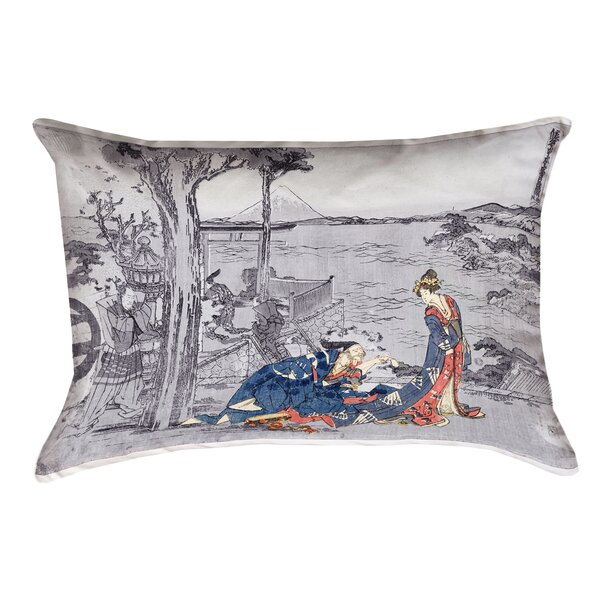 Enya Japanese Courtesan Double Sided Print Lumbar Pillow