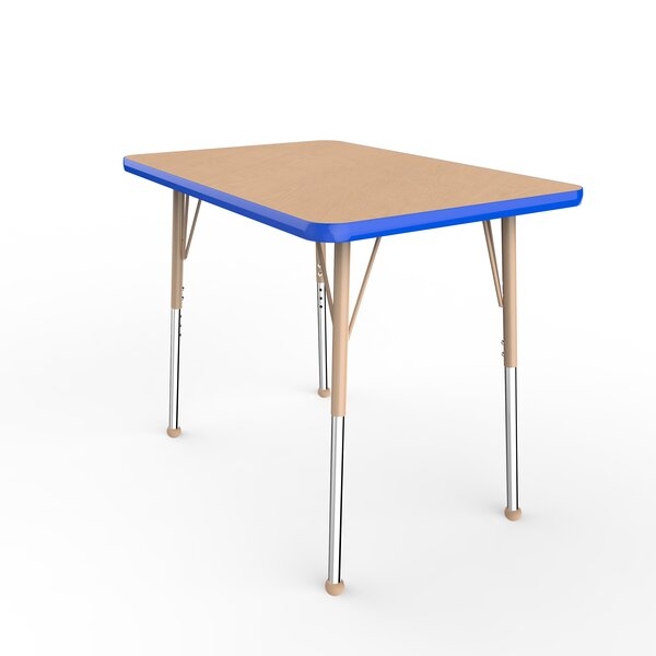 Maple Top Thermo-Fused Adjustable 24 x 36 Rectangular Activity Table by ECR4kids