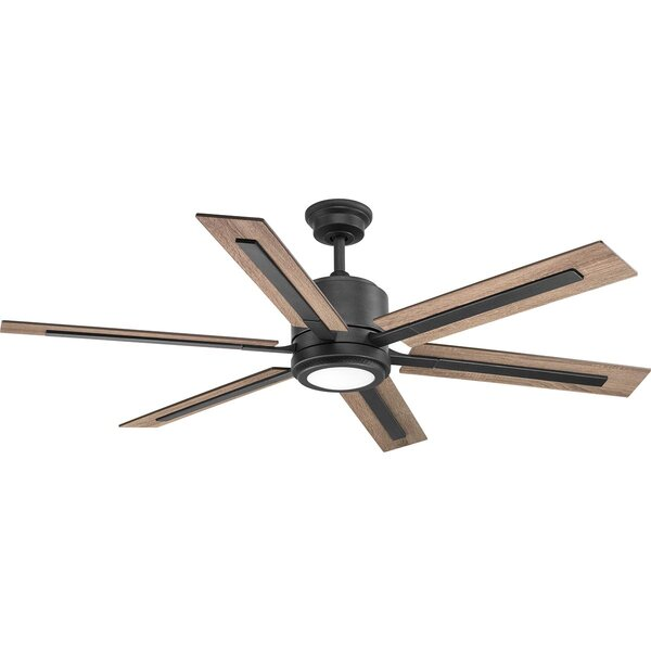 Lesure 6 Blade LED Ceiling Fan with Remote by Unio